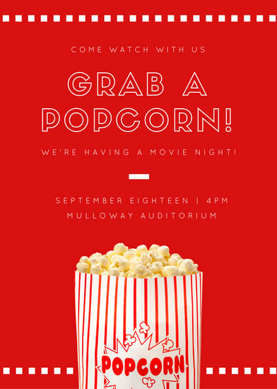 Customize 646 Movie Night Invitation Templates Online Canva