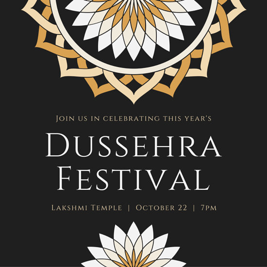 Dussehra Festival Invitation Card  Templates by Canva