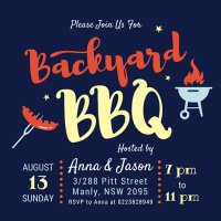 Backyard Bbq Invitations