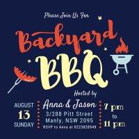 Backyard Bbq Invitations   Outdoor Goods