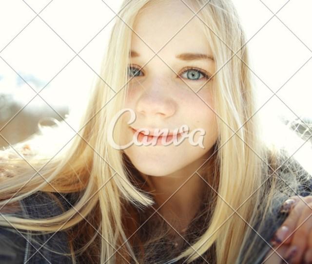 Cute Blonde Teen