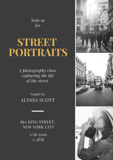 Street Portraits Grayscale Collage Poster Templates By Canva