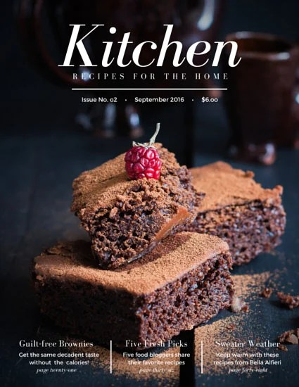 Navy Blue Brown Modern Food Magazine Templates By Canva