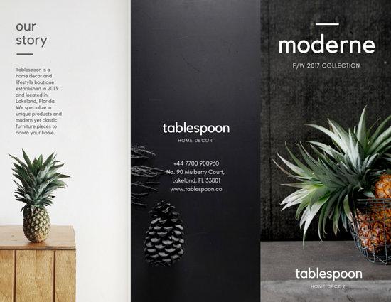 Home Decor Shop Catalog Tri Fold Brochure Templates By Canva