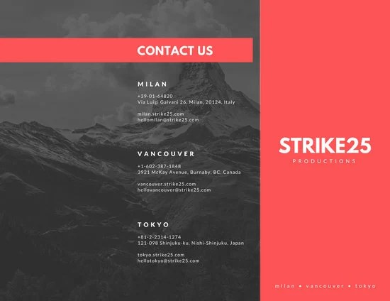 Production Studio Brochure Templates By Canva