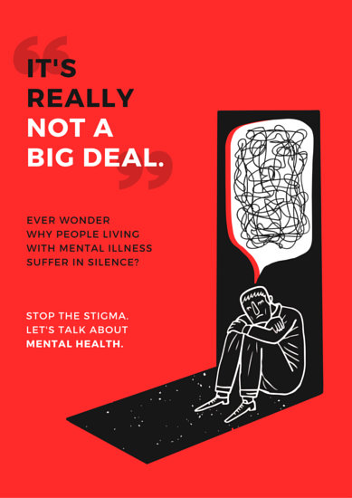 Mental Health Awareness Campaign Poster Templates By Canva