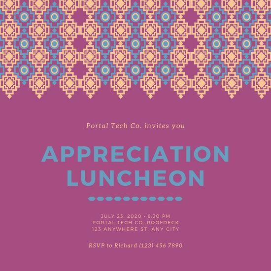 Customize 65 Luncheon Invitation templates online  Canva