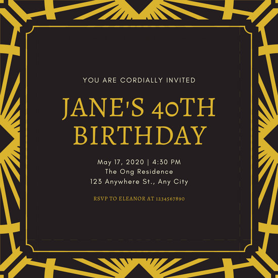 Customize 52 Great Gatsby Invitation Templates Online Canva