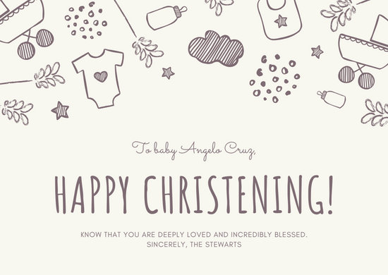 Customize 28+ Christening Thank You Card templates online