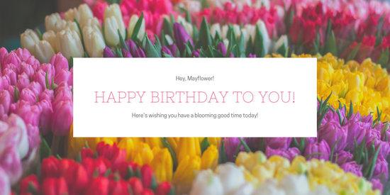 flower photo birthday greetings