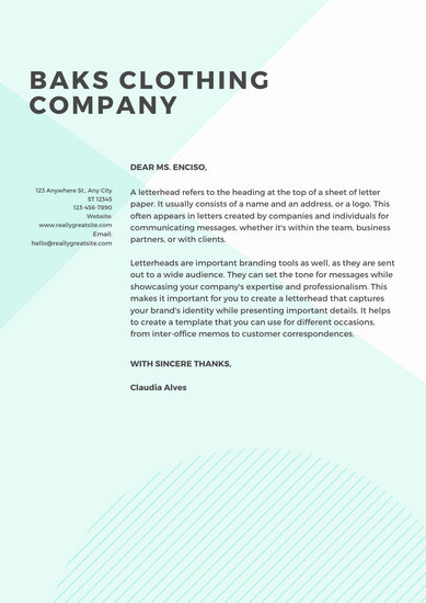 customize 745 letterhead templates