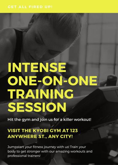 Customize 62 Fitness Flyer templates online  Canva