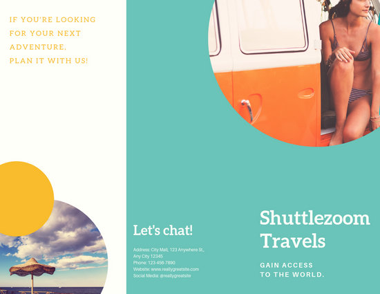 Spain Travel Tri-Fold Brochure Template
