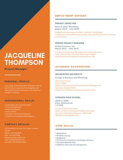 Canva Resume Builder