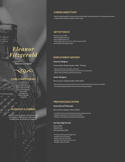unique graphic design resume