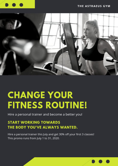 Customize 65 Fitness Flyer Templates Online Canva