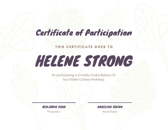 Customize 49+ Participation Certificate templates online