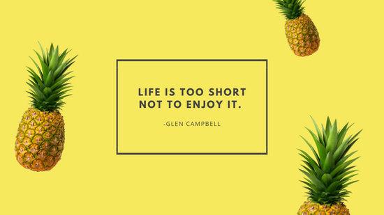 Be A Pineapple Quote Wallpaper Customize 45 Tropical Desktop Wallpaper Templates Online