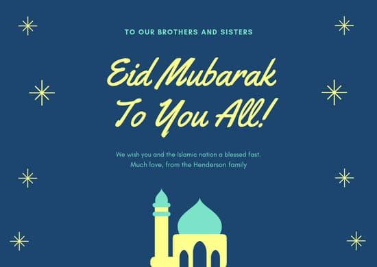 Customize 44 Eid Al Fitr Card Templates Online Canva