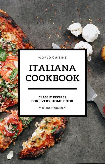 Customize 38 Cookbook Book Cover templates online  Canva