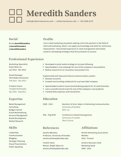 resume free templates online
