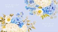 Pastel Blue Life Quote Floral Desktop Wallpaper ...