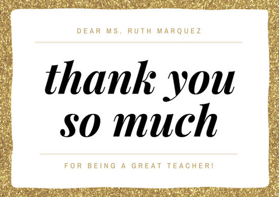 Customize 58 Teacher Thank You Card Templates Online Canva