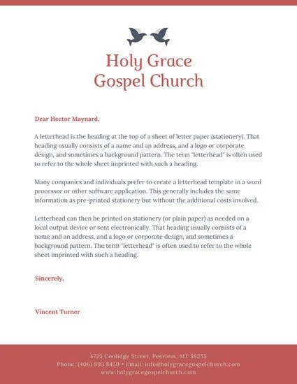 Customize 38 Church Letterhead Templates Online Canva