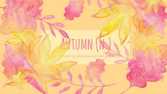Fall Vibes Wallpaper Watercolor Autumn Leaves Desktop Wallpaper Templates By