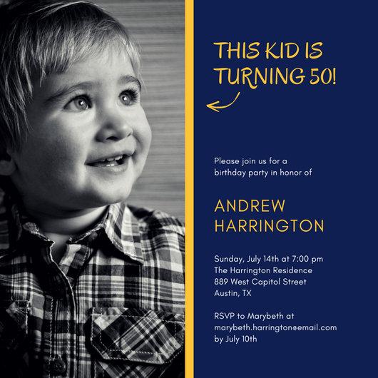 Boy Birthday Invitation Templates