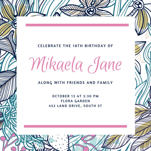 Free Printable Invitations Under Sea