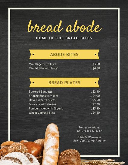 Customize 38 Bakery Menu Templates Online Canva