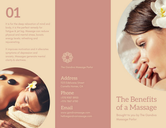Customize 45 Massage Brochure Templates Online Canva