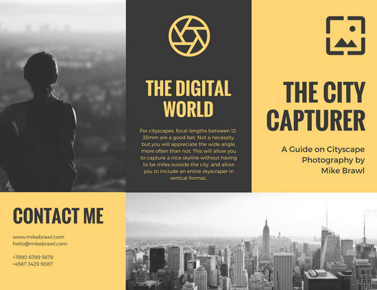 Customize 62 Photography Brochure Templates Online Canva