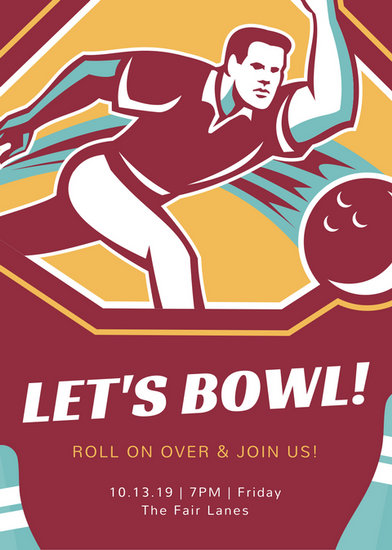 Customize 95 Bowling Invitation Templates Online Canva