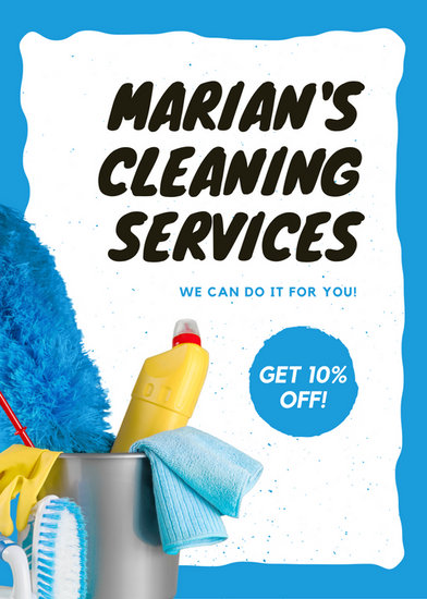 Cleaning Flyer Templates Canva