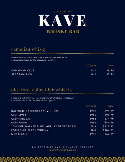 bar menu template free - April.onthemarch.co