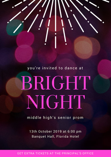 Customize 27 Prom Poster templates online  Canva