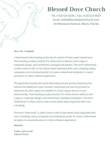 Indian Red Church Letterhead Templates By Canva