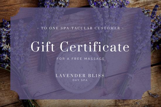 Dark Purple And Pink Vines Massage Gift Certificate