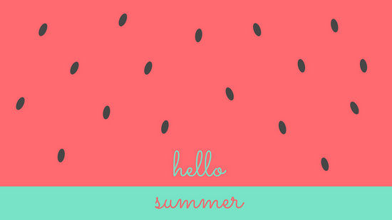 Watermelon Summer Desktop Wallpaper  Templates by Canva