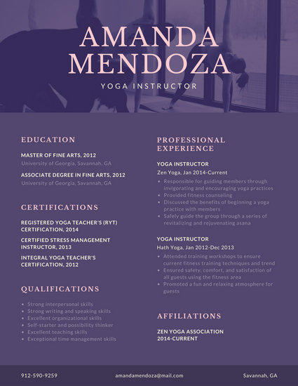 instructor resume template