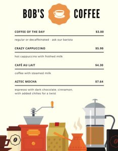 Cafe vector illustrations coffee shop menu also customize templates online canva rh