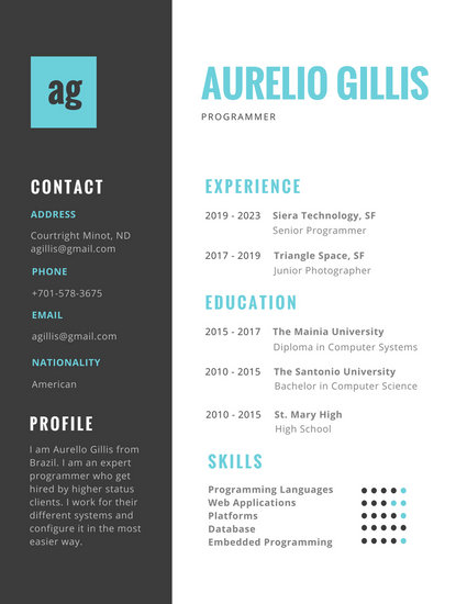 free online templates for resumes