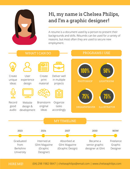 Modern Infographic Resume - Templates by Canva