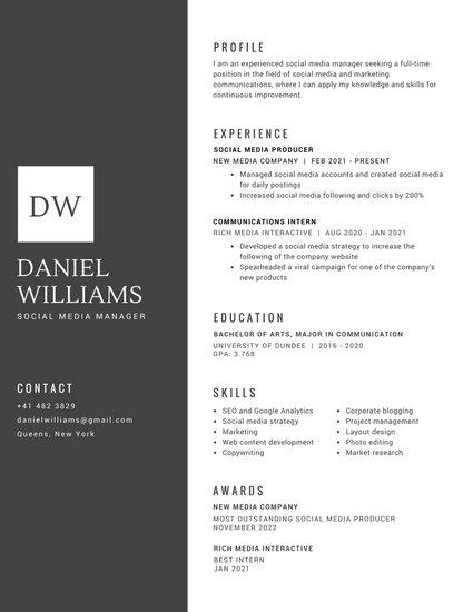 Customize 294 Professional Resume Templates Online Canva