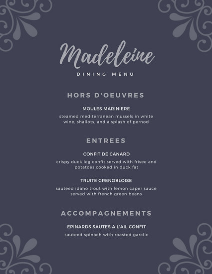 Customize 244 Elegant Menu templates online  Canva