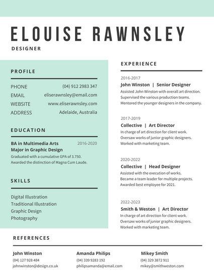 Customize 764 Modern Resume templates online  Canva