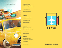 Yellow Illustrated Travel Trifold Brochure Templates By