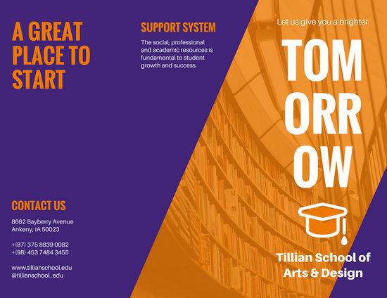 Customize 79 College Brochure templates online  Canva